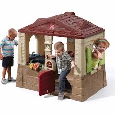 Sears Backyard Playsets Step2 Naturally Playful Welcome Home Playhouse Walmart Com