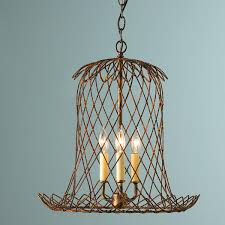 Industrial Kitchen Light Fixtures by Tulip Wire Basket Lantern A Rusty Finish On Heavy Gauge Wire Forms