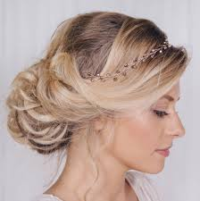 wedding headband simple wedding headband or hairvine by debbie carlisle