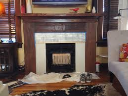 fireplace oak mantel and marble tile remodel before u0026 after