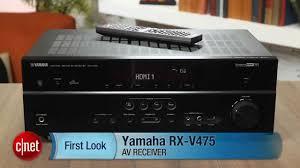 cnet home theater receiver yamaha rx v475 av receiver youtube