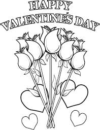 happy valentine u0027s flowers coloring free printable