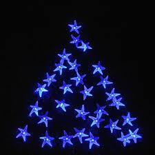 2pack qedertek starfish solar string lights fairy christmas 30 led