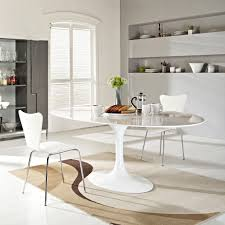 Oval Dining Room Tables And Chairs 78 Eero Saarinen Style Oval Tulip Dining Table In Fiberglass
