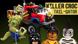 lego jeep set killer croc tail gator lego batman movie set 70907 stop motion