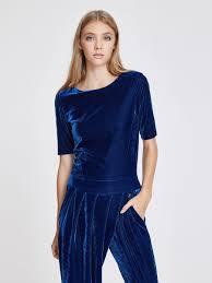 blue velvet jumpsuit stretch velvet jumpsuit trussardi comnull