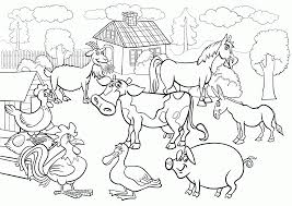 free coloring page of farm animals voteforverde com coloring home