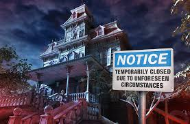 theme park haunted house closed due to actual haunting omen