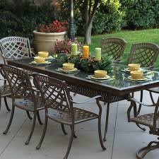 6 Person Patio Dining Set - darlee sedona 9 piece cast aluminum patio dining set with