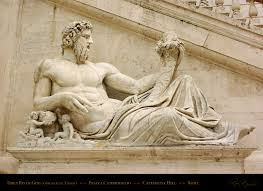 God Statue Tiber River God Originally A Statue Of The River God Tigris This