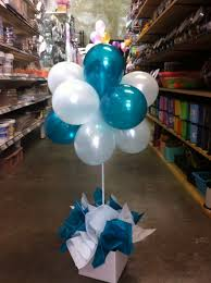 image result for balloon topiary centerpieces for men party