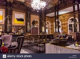 paris france inside fancy bar room french luxury hotel