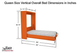How To Make A Queen Size Bed Frame Bedroom Murphy Bed Frame Queen Murphy Bed Mechanism Queen