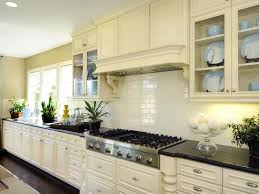 Kitchen Glass Backsplashes Glass Backsplash L Shape Kitchen Cabinet Cream Tufted Sofa White