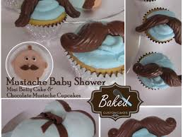 mustache baby shower mini baby bump cake for mom to be and