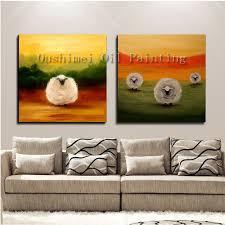 hand painted new oil painting hang paintings modern sheep animlas