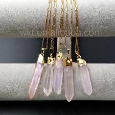 natural quartz necklace images Healing angel aura quartz necklace for women jewelry natural jpg