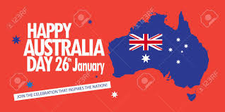Austrslia Flag Happy Australia Day 26th January Inscription Poster With Australia