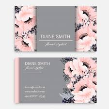 beautiful floral business card template vector premium download