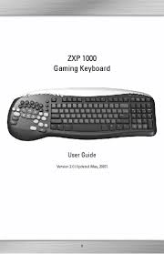 video game keyboard users guides from