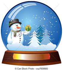 vector clipart of snow globe with snowman vector snow globe with