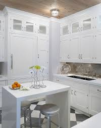 white kitchen islands with seating small white kitchen with white lacquered waterfall island