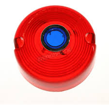 chris products turn signal red lens with blue dot dhd2rb harley