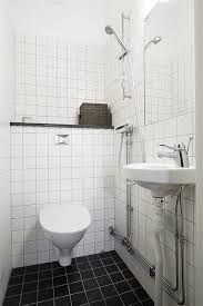 delightful modern white small bathroom decoration using white