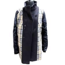 barbour maritime wool cashmere winter sz 14 pea coat mislux