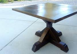 Square Pedestal Table Square Wooden Breakfast Table With X Base Pedestal On White Marble