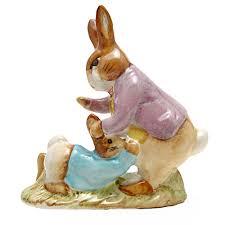 rabbit and benjamin bunny beswick beatrix potter figurine mr benjamin bunny and