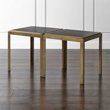 Wood And Metal End Table Metal End Tables Crate And Barrel