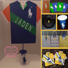 polo themed baby shower horsemen party package include invitation plates cups gift bag