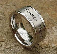 can titanium rings be engraved personalised titanium wedding ring love2have in the uk
