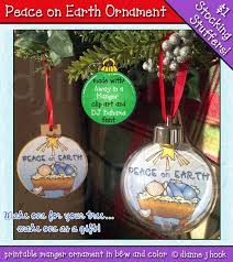 hang or give this ornmanet as a reminder of peace on earth dj
