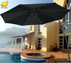 Fringed Patio Umbrella by Patio Ideas Solar Powered Patio Umbrella Led Lights Patio
