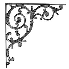 iron accents classic scroll shelf bracket cb60