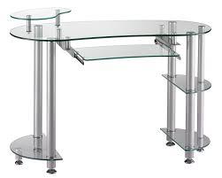 bureau informatique verre trempé bureau informatique design en verre transparent xavier bureau