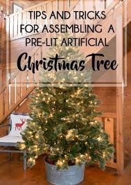 how to assemble a pre lit artificial tree creative