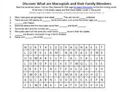 marsupials worksheet download free printable science worksheets