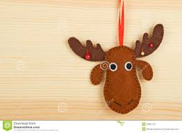 Reindeer Christmas Decorations Make by Handmade Christmas Decorations Stock Photos Image 32861733