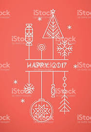 merry christmas and happy new year greeting card template stock