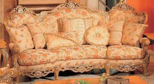 Most Popular Sofa Styles Peach Floral Pattern Sofa With Traditional Design Style Also