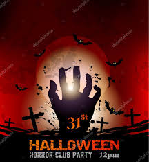 halloween party background halloween fear horror party background u2014 stock vector davidarts