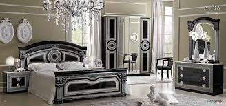Bedroom Furniture Sets Black Aida Black W Silver Camelgroup Italy Classic Bedrooms Bedroom