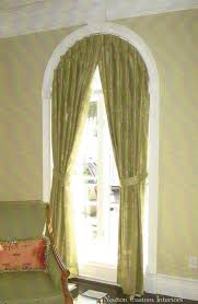 Curtains For Arch Window Fancy Half Circle Window Curtains Decor With Arched Window