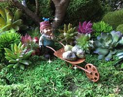 fairy garden wheelbarrow miniature garden miniature rusty