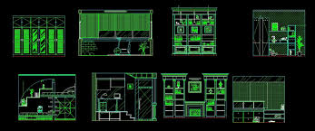 Autocad Kitchen Cabinet Blocks Cabinets For Living Room Study And Kitchen Front Elevation 2d Dwg