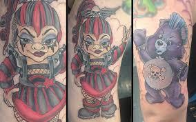 punk rainbow brite care bear tattoo icons