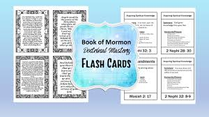 doctrinal mastery book of mormon flash cards lds seminary